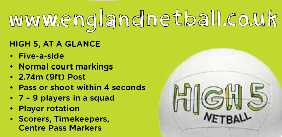 high five netball rules summary