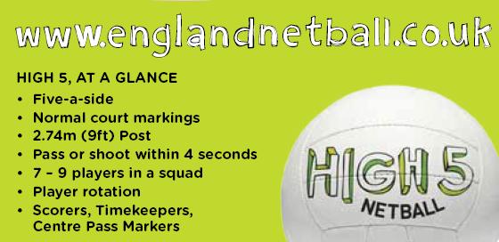 high five netball rules summary