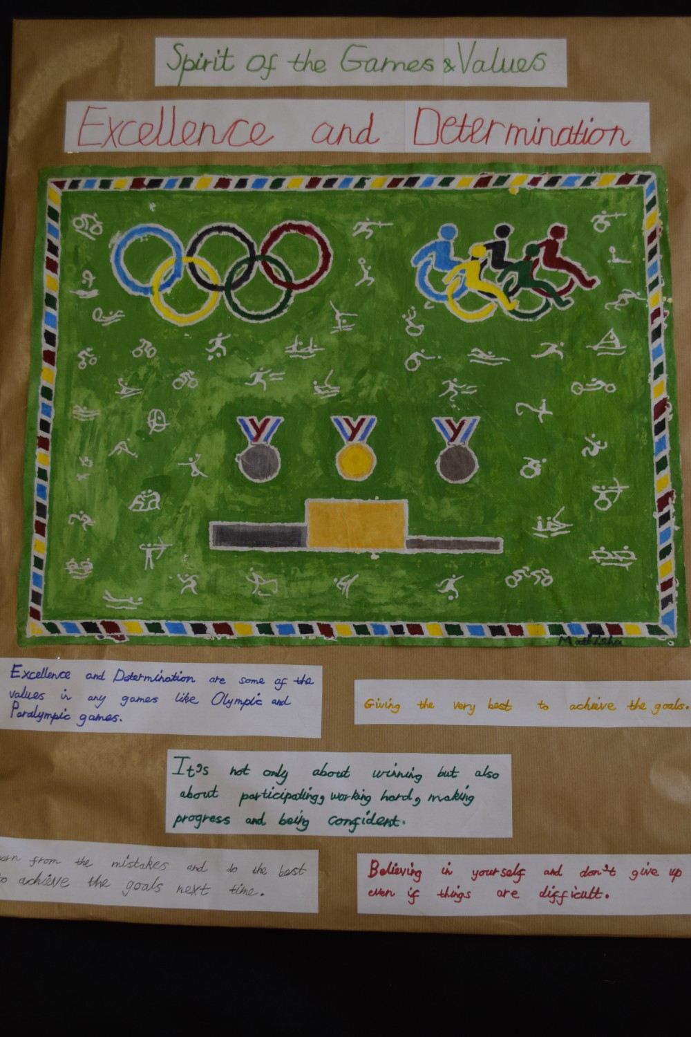 school games value poster competition hunts school sports