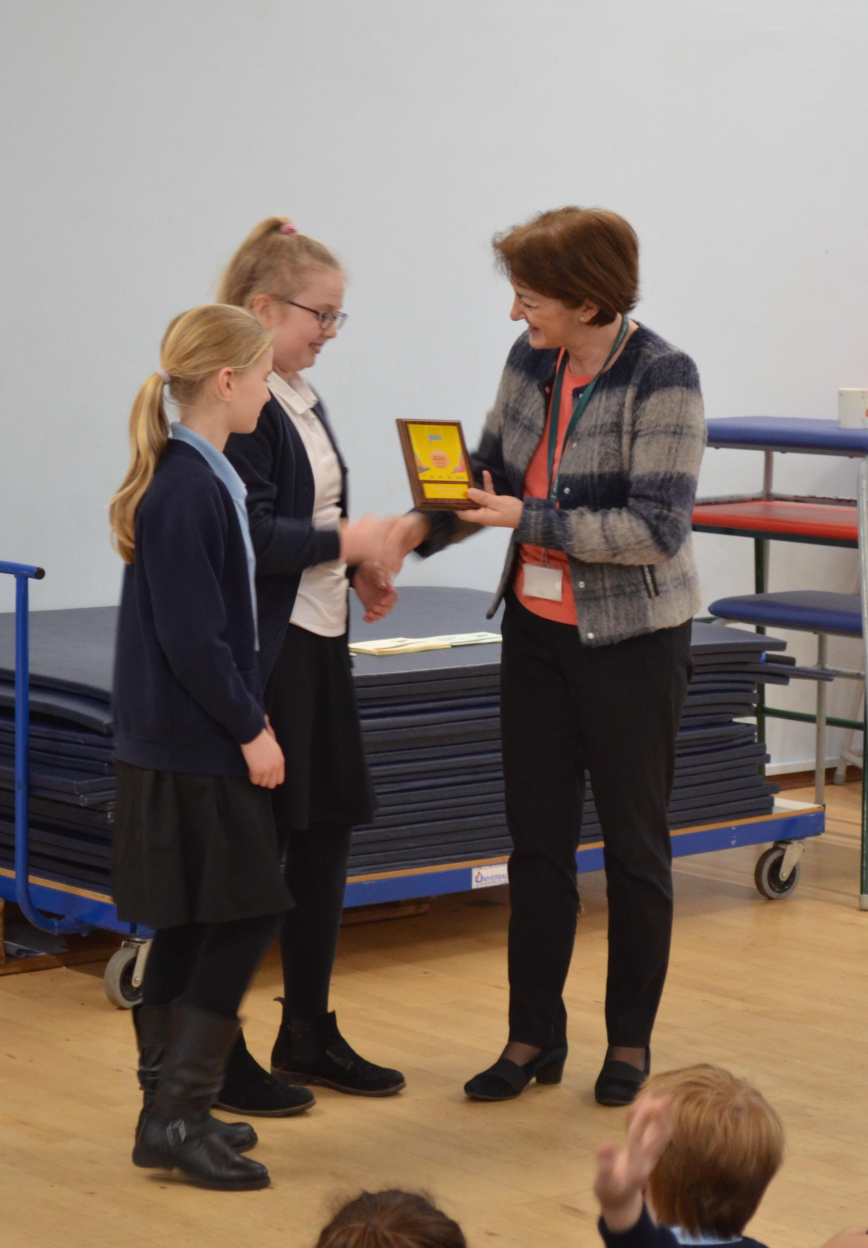 ramsey junior school receive gold schools games mark